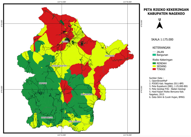Picture 5. Drought Hazard Risk Map by participants